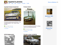 Screenshot of Graham's flickr album