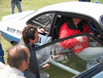 Denis 'Bex' Bissell, Dave Wheatley and Gregor Marshall discuss the finer points of the DTV Firenza